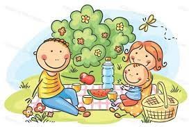 Family picnic. Family clipart illustration commercial use.   Etsy